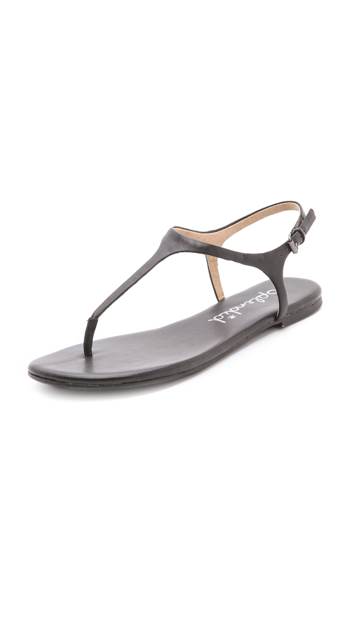 Splendid Mason T Strap Sandals In Brown Lyst