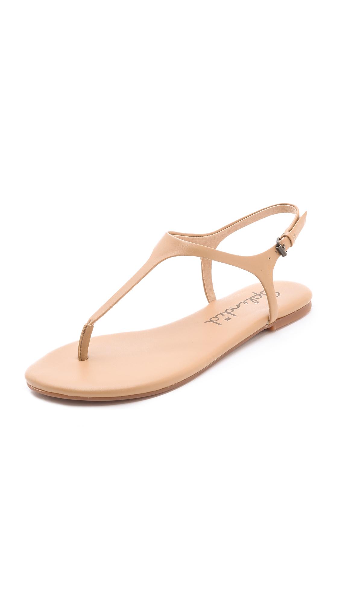 Splendid Mason T Strap Sandals In Natural Lyst
