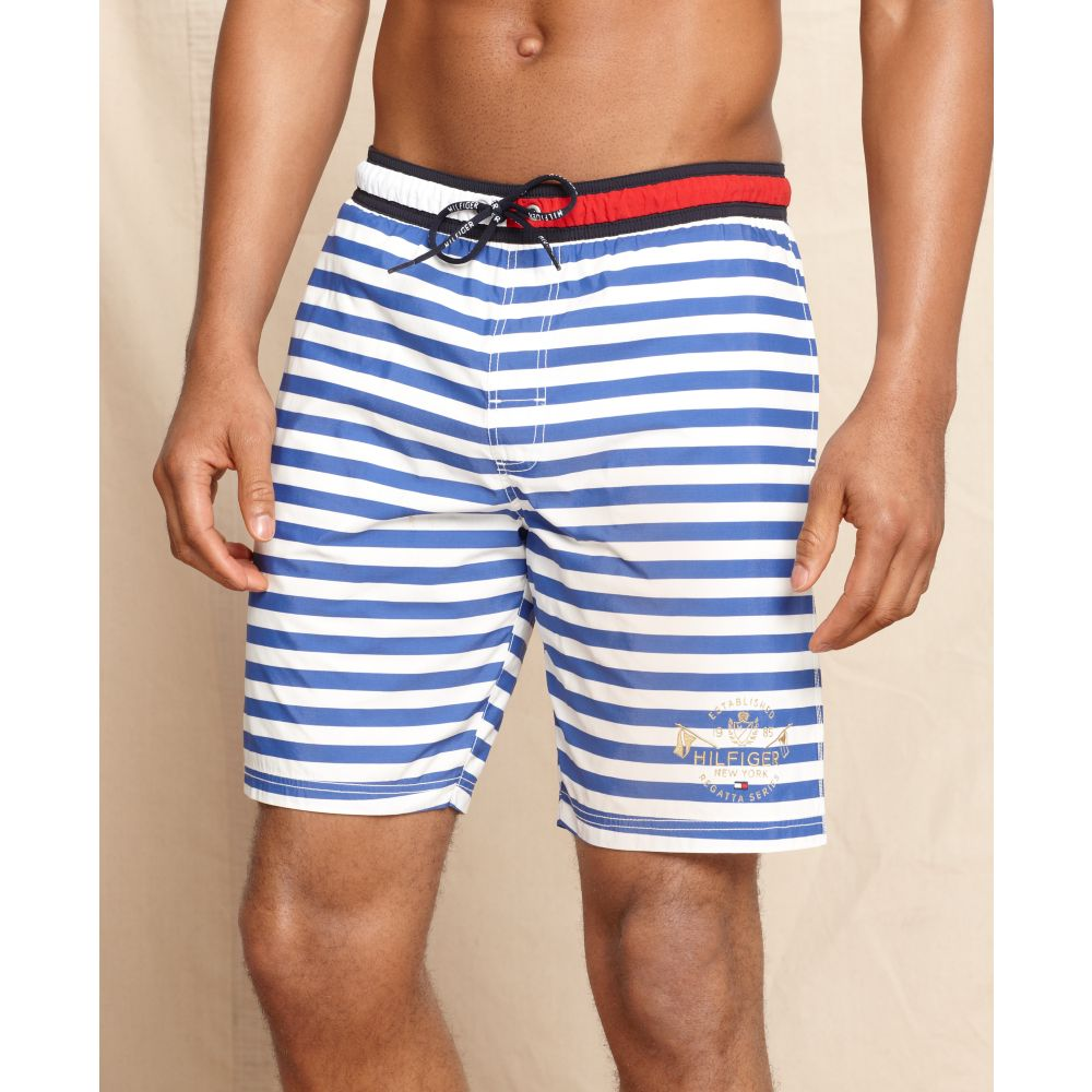 34ad38c11e859 Tommy Hilfiger Bar Stripe Swim Trunks in Blue for Men - Lyst