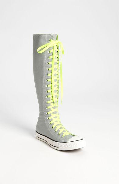 converse chuck xx hi knee high sneaker in gray