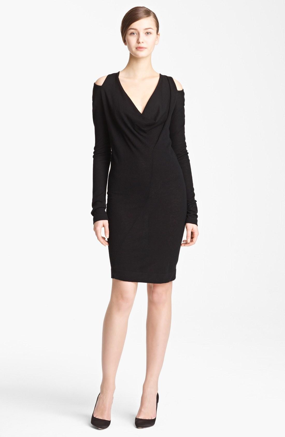 Donna karan new york collection twist tunic dress in black for Donna karan new york