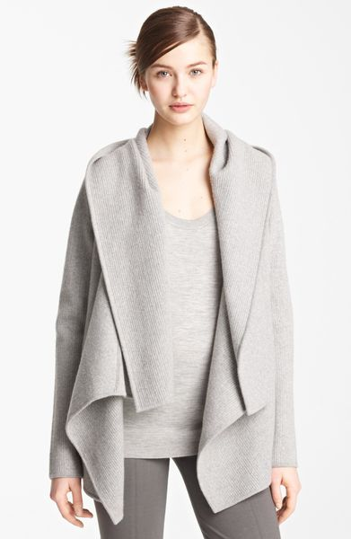 donna karan new york collection hooded cashmere cozy in. Black Bedroom Furniture Sets. Home Design Ideas