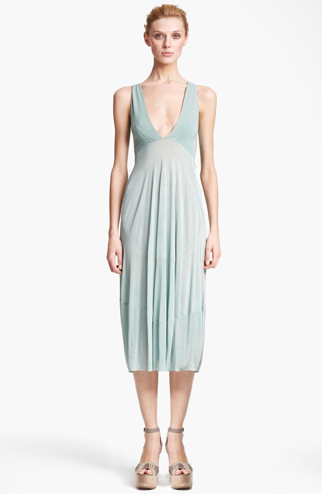 Donna karan new york collection jersey crepe dress in blue for Donna karan new york