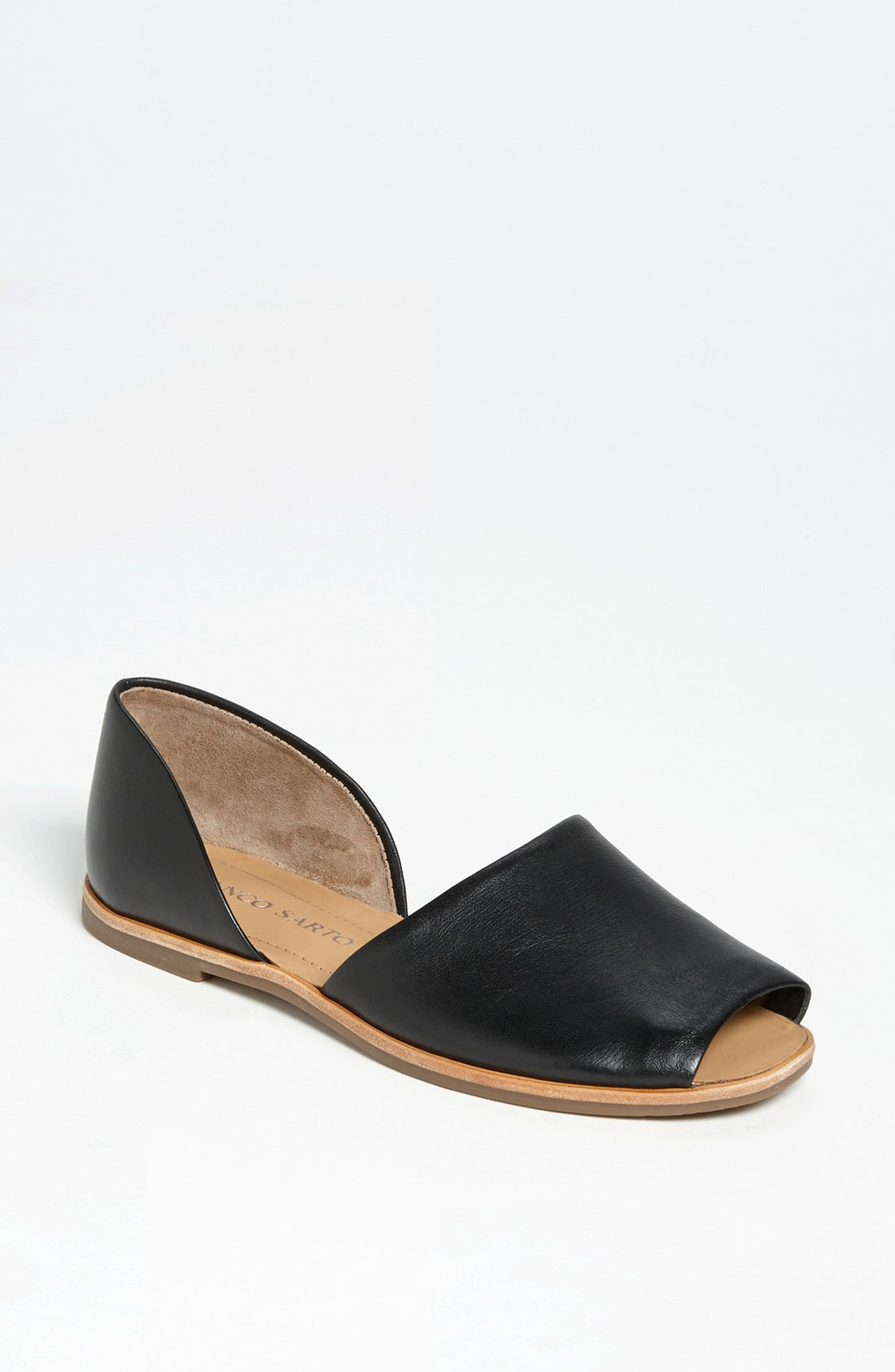 Franco Sarto Venezia Flat In Black Black Leather Lyst