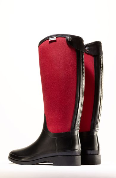Hunter Bessy Rain Boot Women Nordstrom Exclusive In Red Lyst