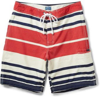 J.Crew Striped Midlength Swim Shorts - Lyst