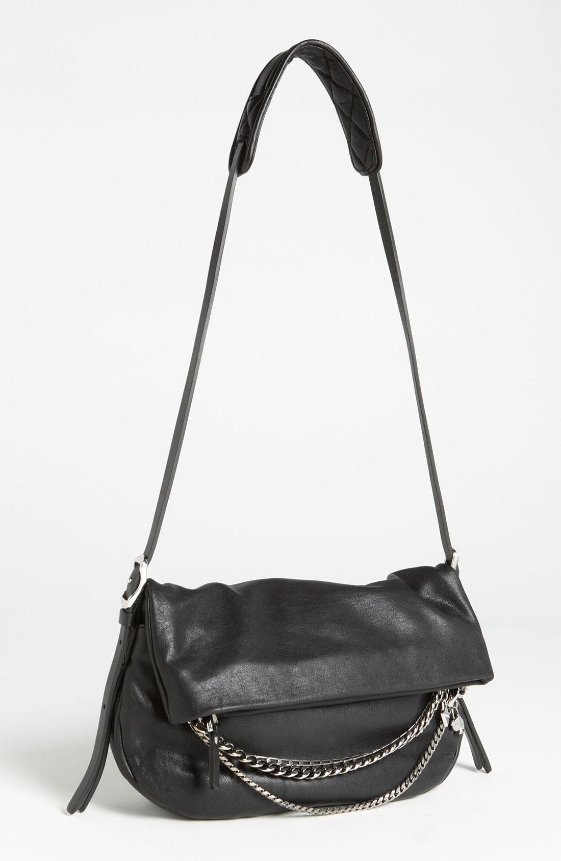 Jimmy Choo Biker Small Leather Crossbody Bag in Black | Lyst