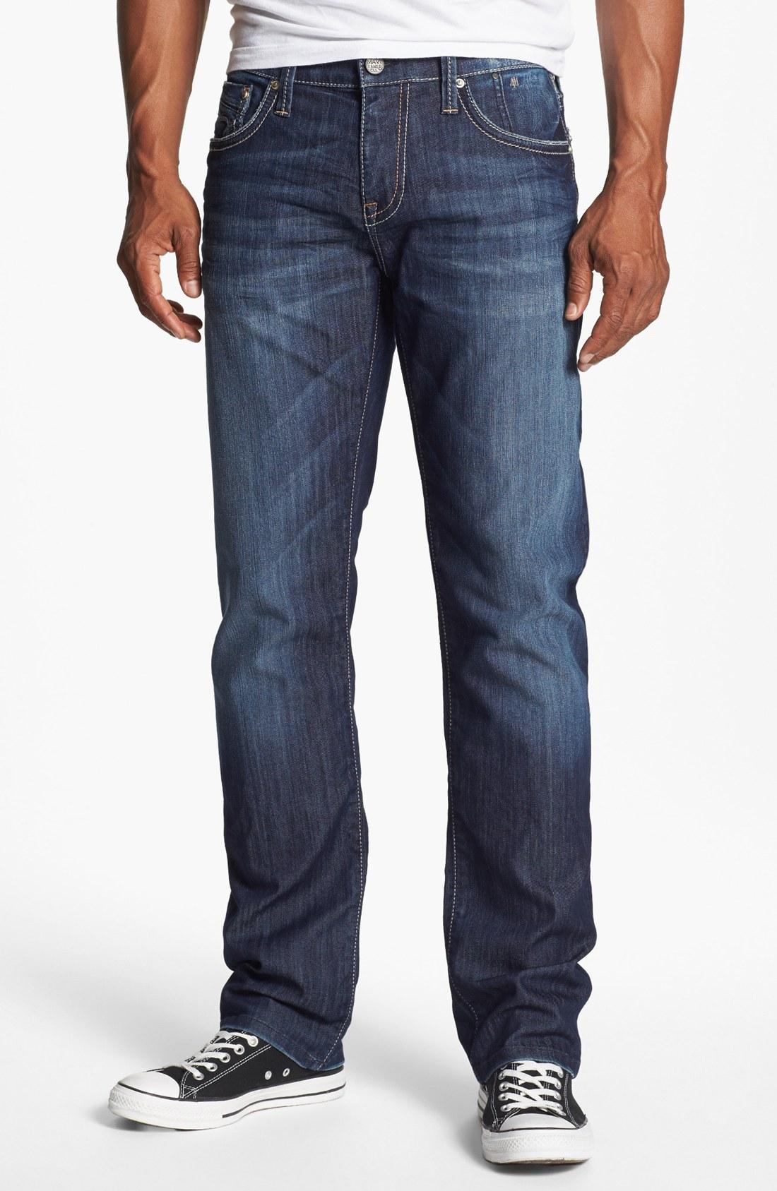 mavi jeans zach straight leg jeans dark vegas in blue for. Black Bedroom Furniture Sets. Home Design Ideas