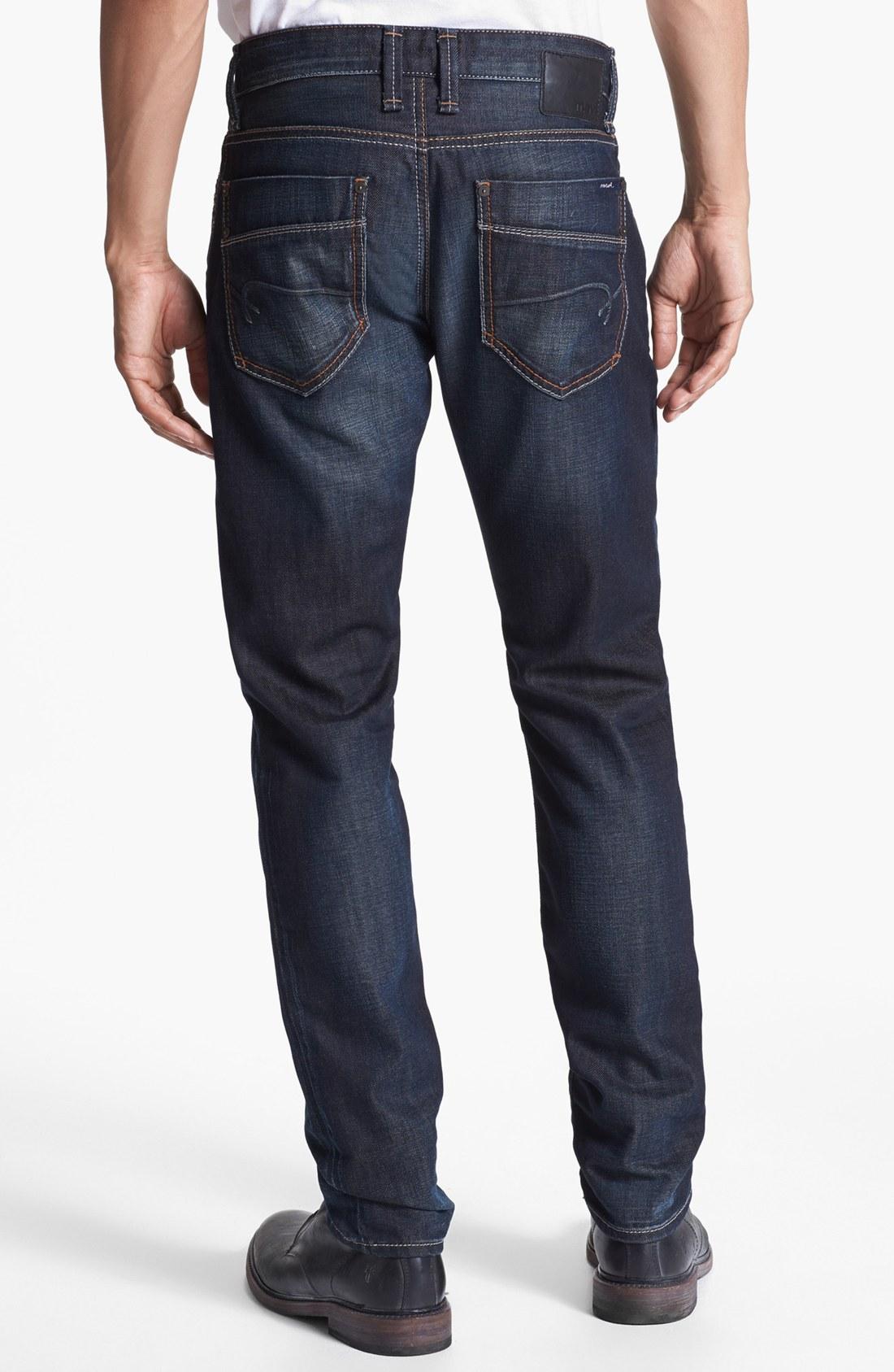 mavi jeans slim tapered leg jeans dusky jameson in blue for men dusky jameson lyst. Black Bedroom Furniture Sets. Home Design Ideas