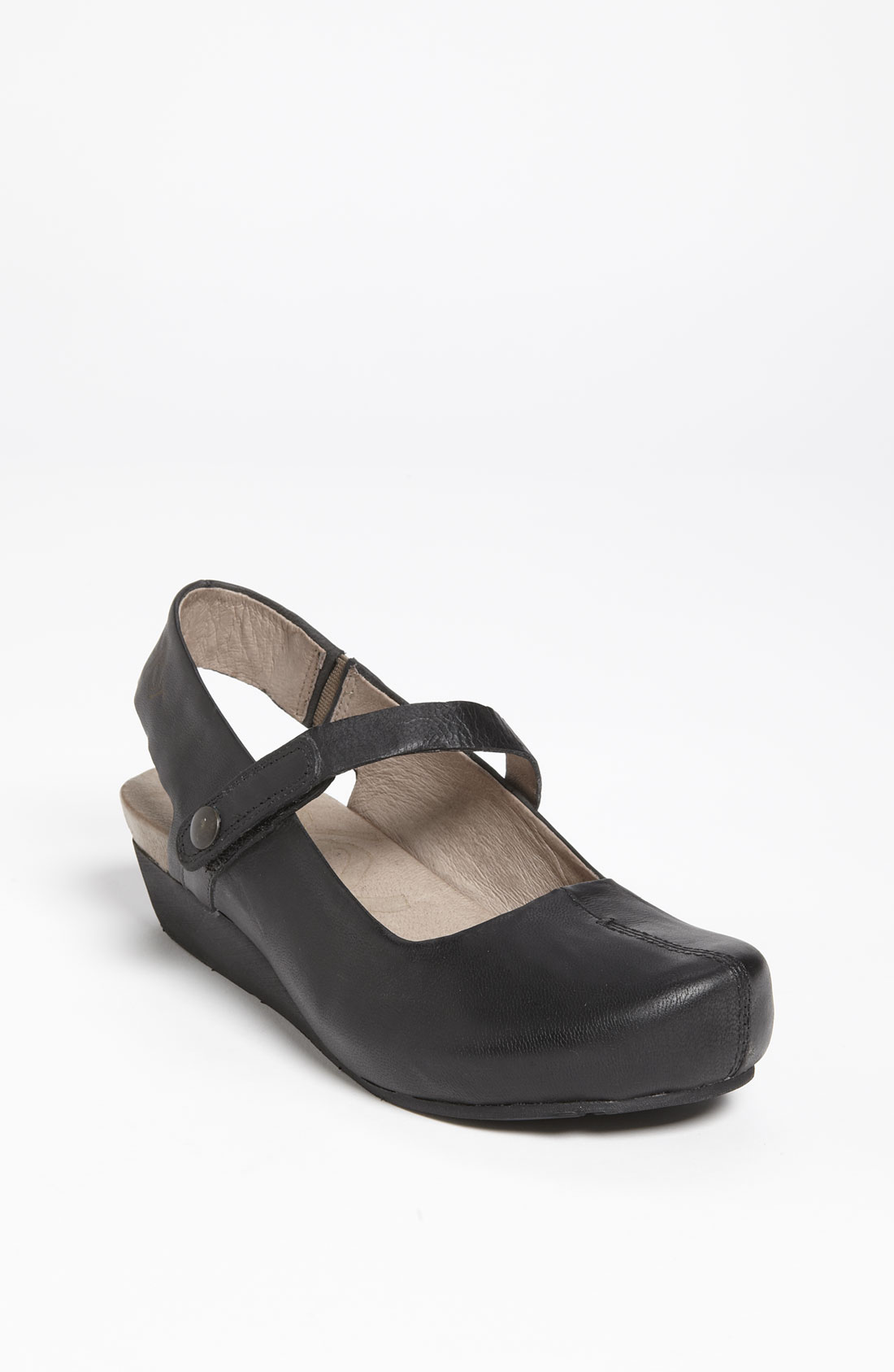 Otbt Springfield Flat In Black Black Leather Lyst