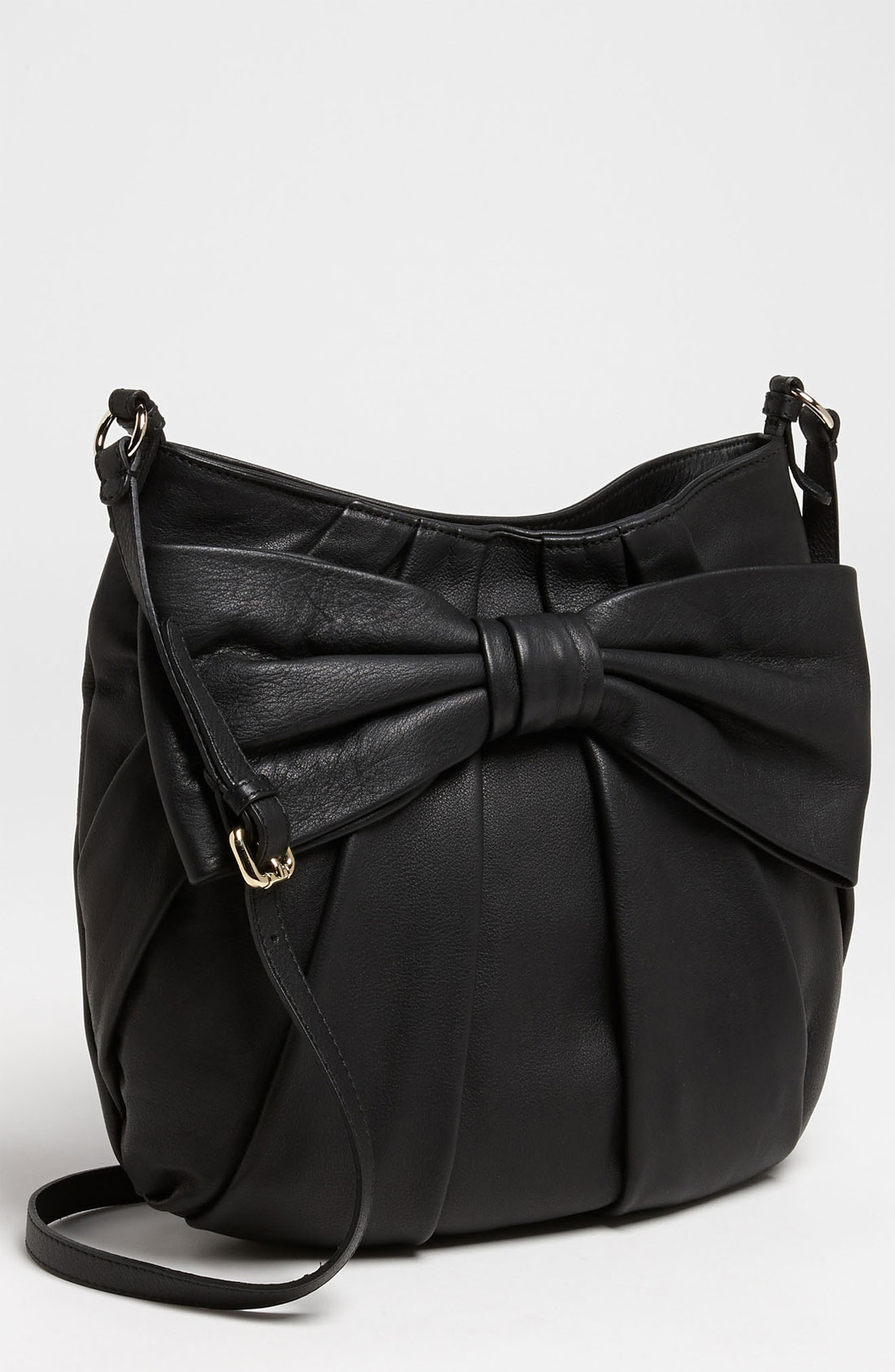 valentino bow large leather crossbody bag in black lyst