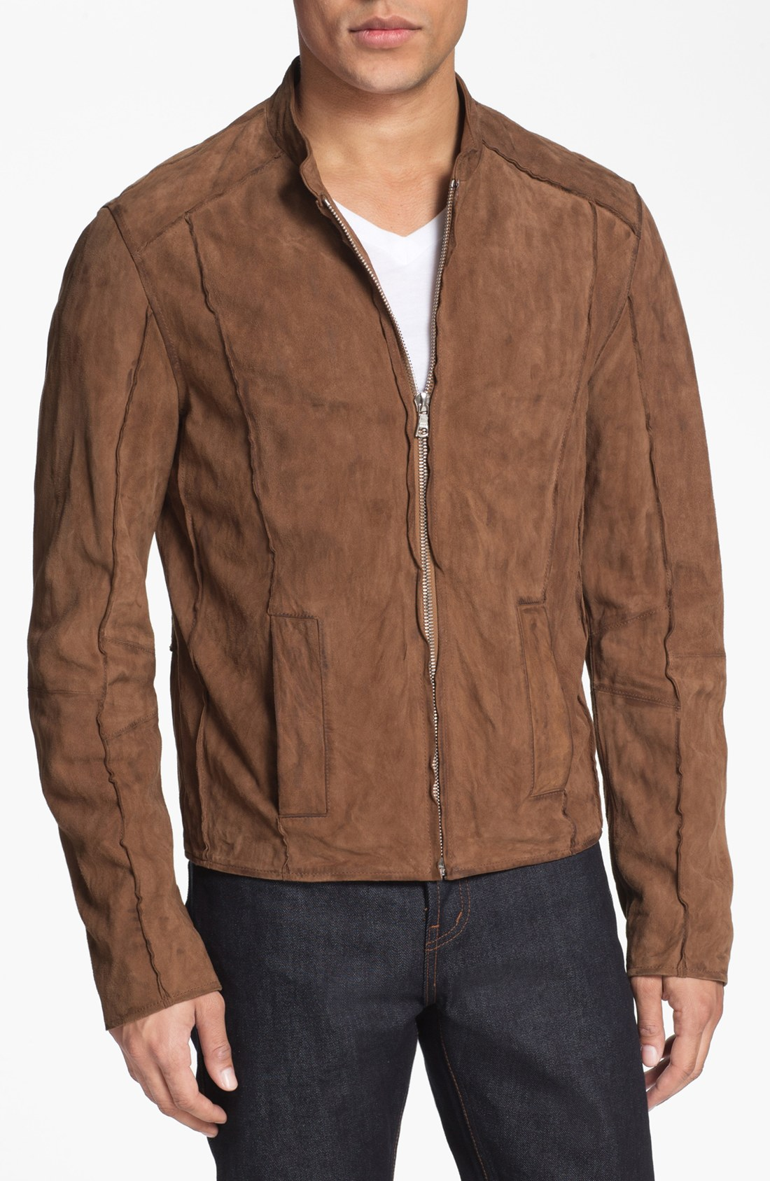 Suede Jacket Outfits For Men 20 Ways To Wear A Suede Jacket: Rogue Suede Bomber Jacket In Brown For Men (driftwood)