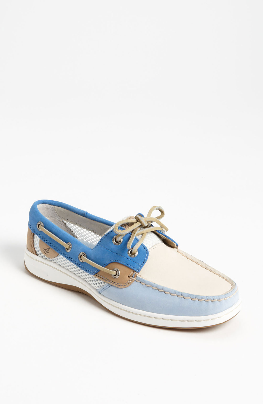 Sperry top sider bluefish 2eye boat shoe women in blue for Best boat shoes for fishing