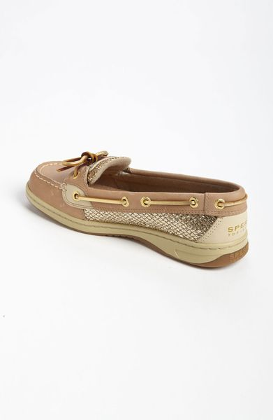 Sperry top sider angel fish boat shoe in gold linen gold for Best boat shoes for fishing