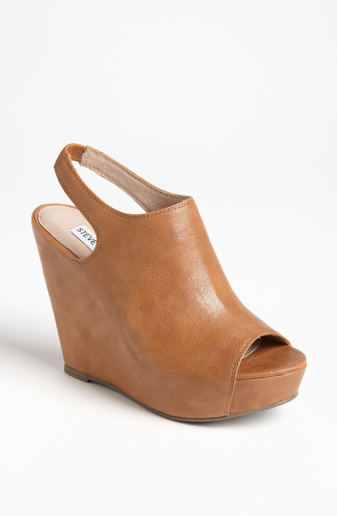 Steve Madden Barcley Wedge In Brown Cognac Lyst