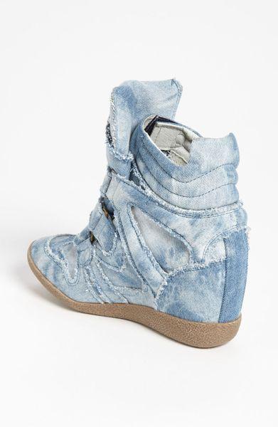 Steve Madden Hilitec Wedge Sneaker In Blue Denim Lyst