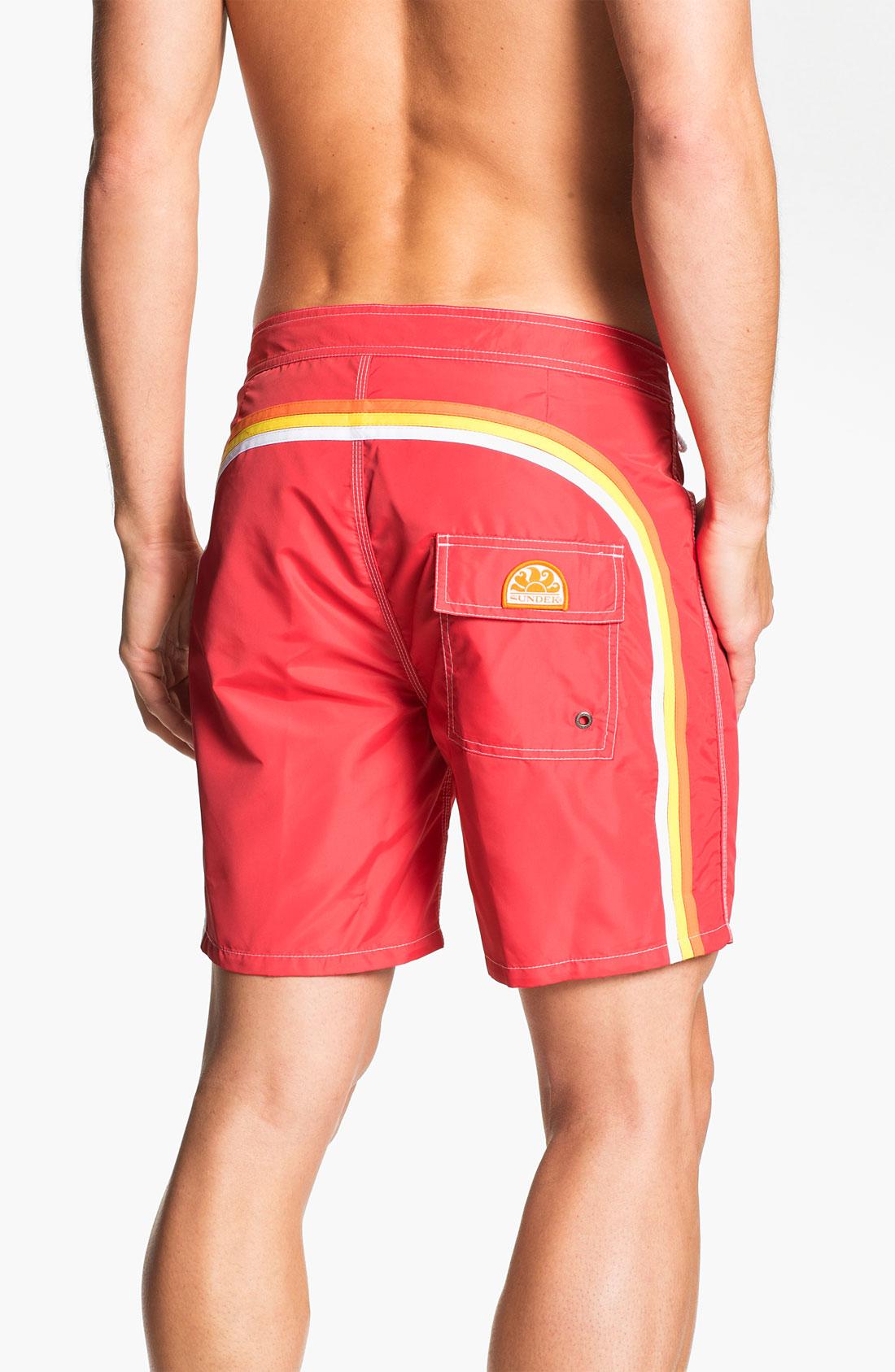 Sundek Volley Swim Shorts Men In Yellow For Men Red