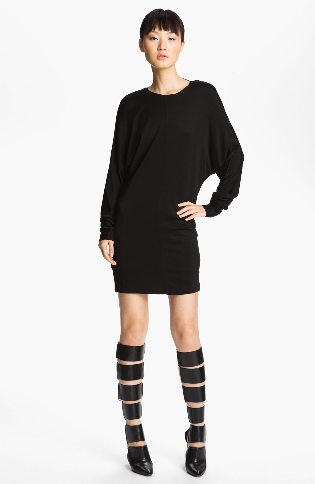 t by alexander wang double knit piqu dress in black lyst. Black Bedroom Furniture Sets. Home Design Ideas