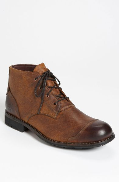 Timberland Earthkeepers City Cap Toe Chukka Boot In Red
