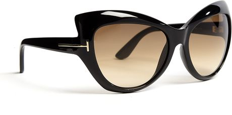 tom ford black bardot cat eye acetate sunglasses in black lyst. Cars Review. Best American Auto & Cars Review