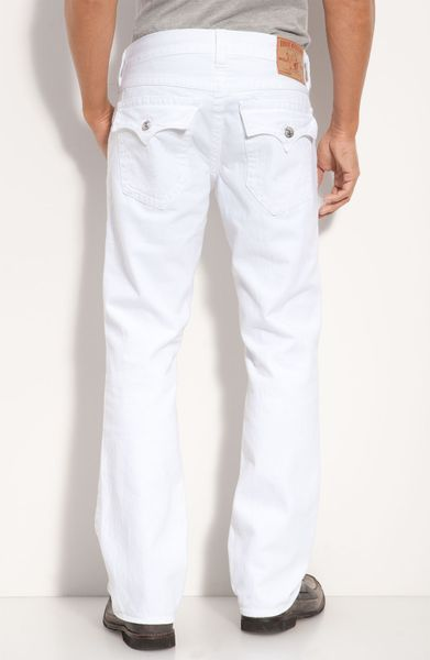 True Religion Ricky Straight Leg Jeans Optic Rinse in ...
