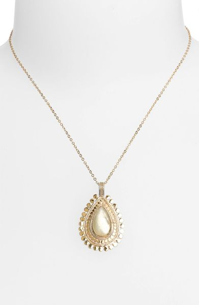 Anna Beck Flores Citrine Pendant Necklace in Gold (gold ...