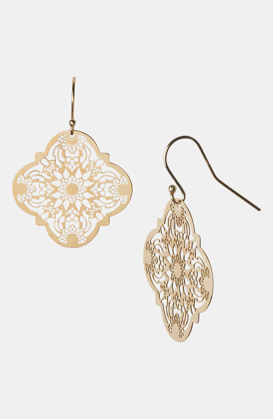 Argento Vivo 'Mini' Drop Earrings in Gold