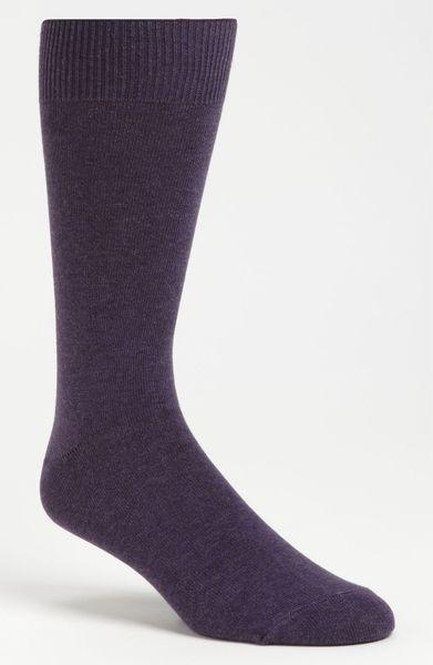 Calvin Klein Signature Socks in Purple for Men (dark purple heather)