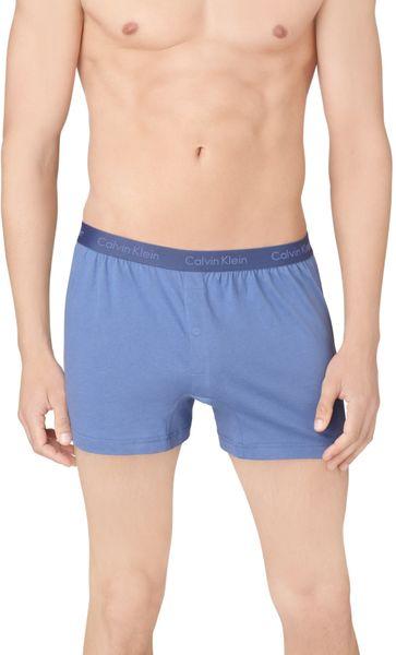 calvin klein slim fit boxer shorts in blue for men water. Black Bedroom Furniture Sets. Home Design Ideas