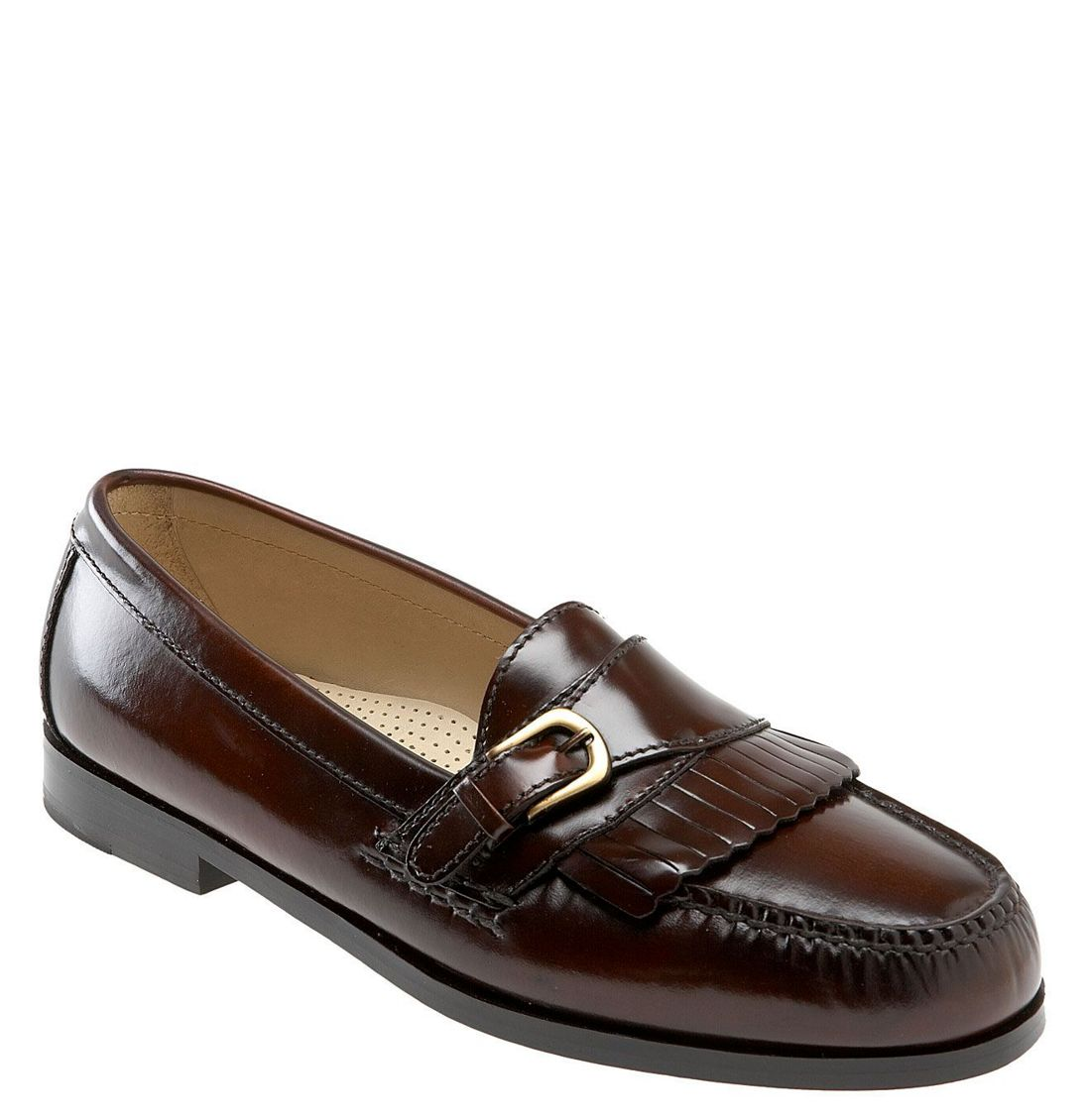 Mens leather gloves boss - Cole Haan Pinch Buckle Loafer In Brown For Men Mahogany Lyst
