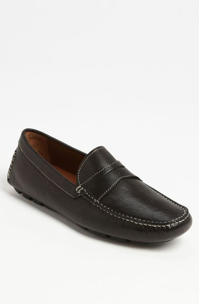 donald j pliner vini driving shoe in black for lyst