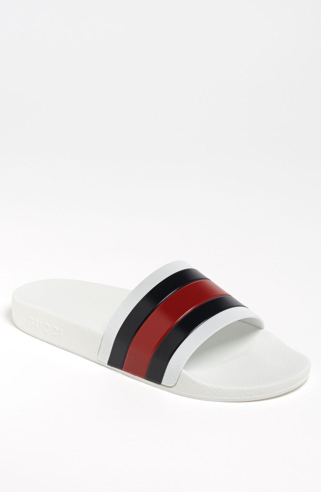 Gucci Pursuit 72 Slide Sandal In Natural For Men Lyst