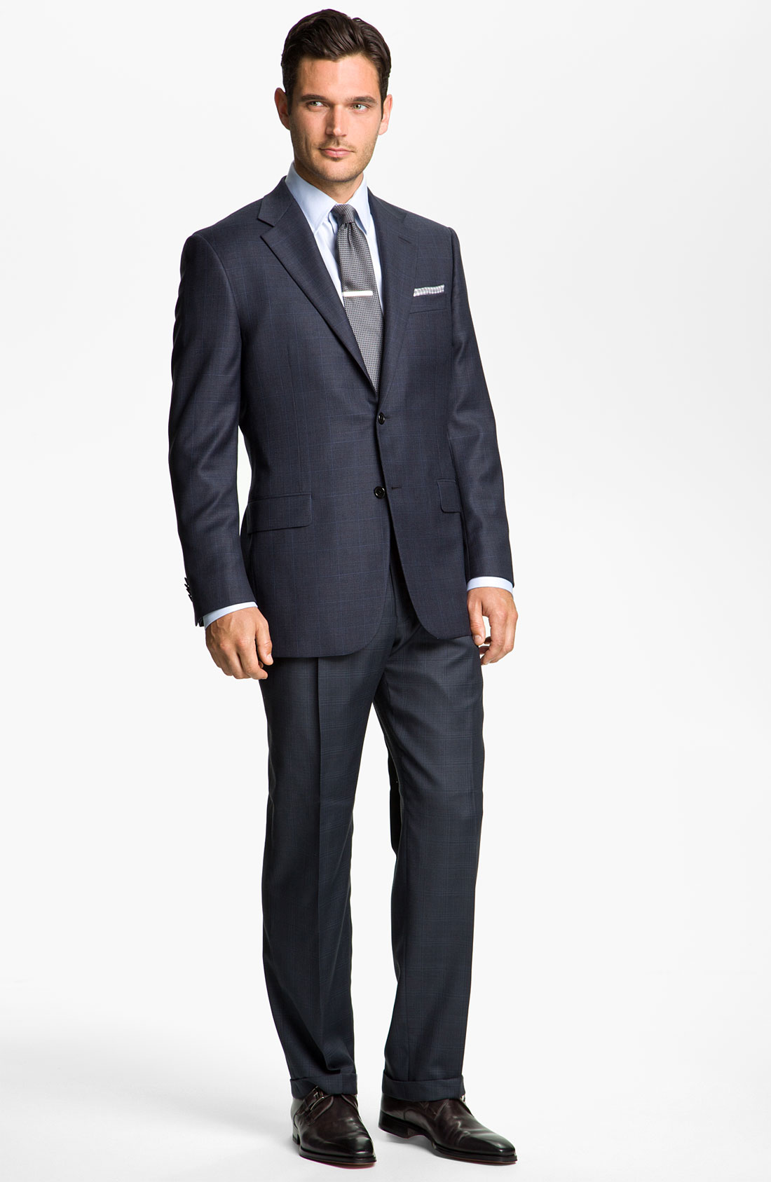 Lyst - Hickey Freeman Windowpane Suit in Blue for Men
