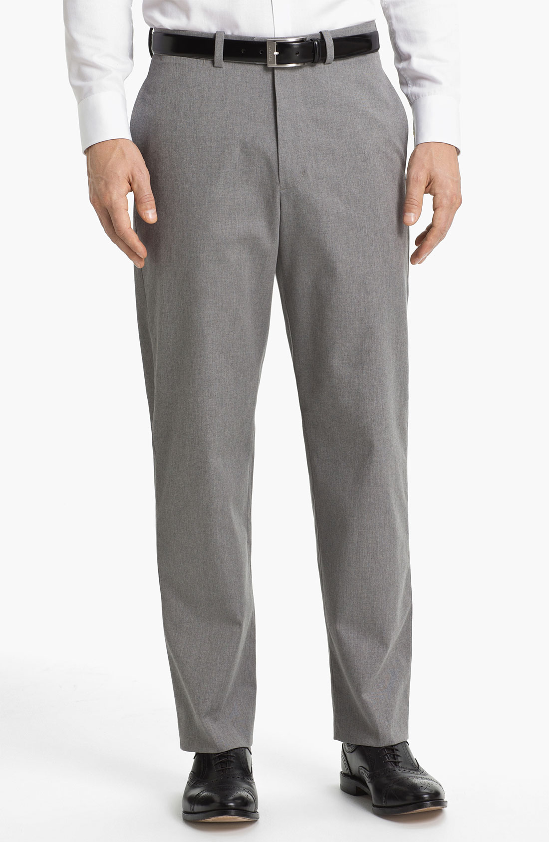 John W. Nordstrom® Mélange Supima Cotton Pants in Gray for ...