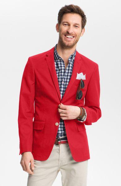 John W. Nordstrom® John W Nordstrom Cotton Blazer in Red for Men ...