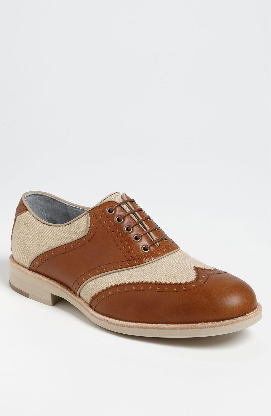 Johnston & Murphy Ellington Spectator Shoe in Brown for Men (tan