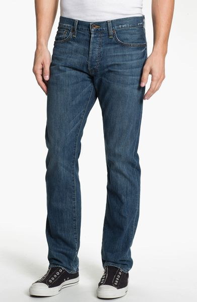 Lucky Brand 121 Heritage Slim Straight Leg Jeans Ol Vicksburg in Blue for Men (ol vicksburg wash)