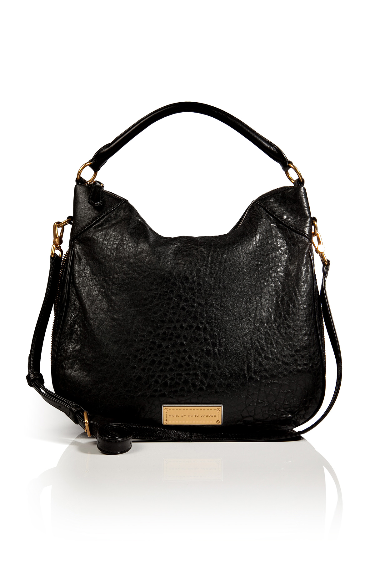 Marc Jacobs Hobo Laukku : Marc by jacobs leather billy hobo in black lyst