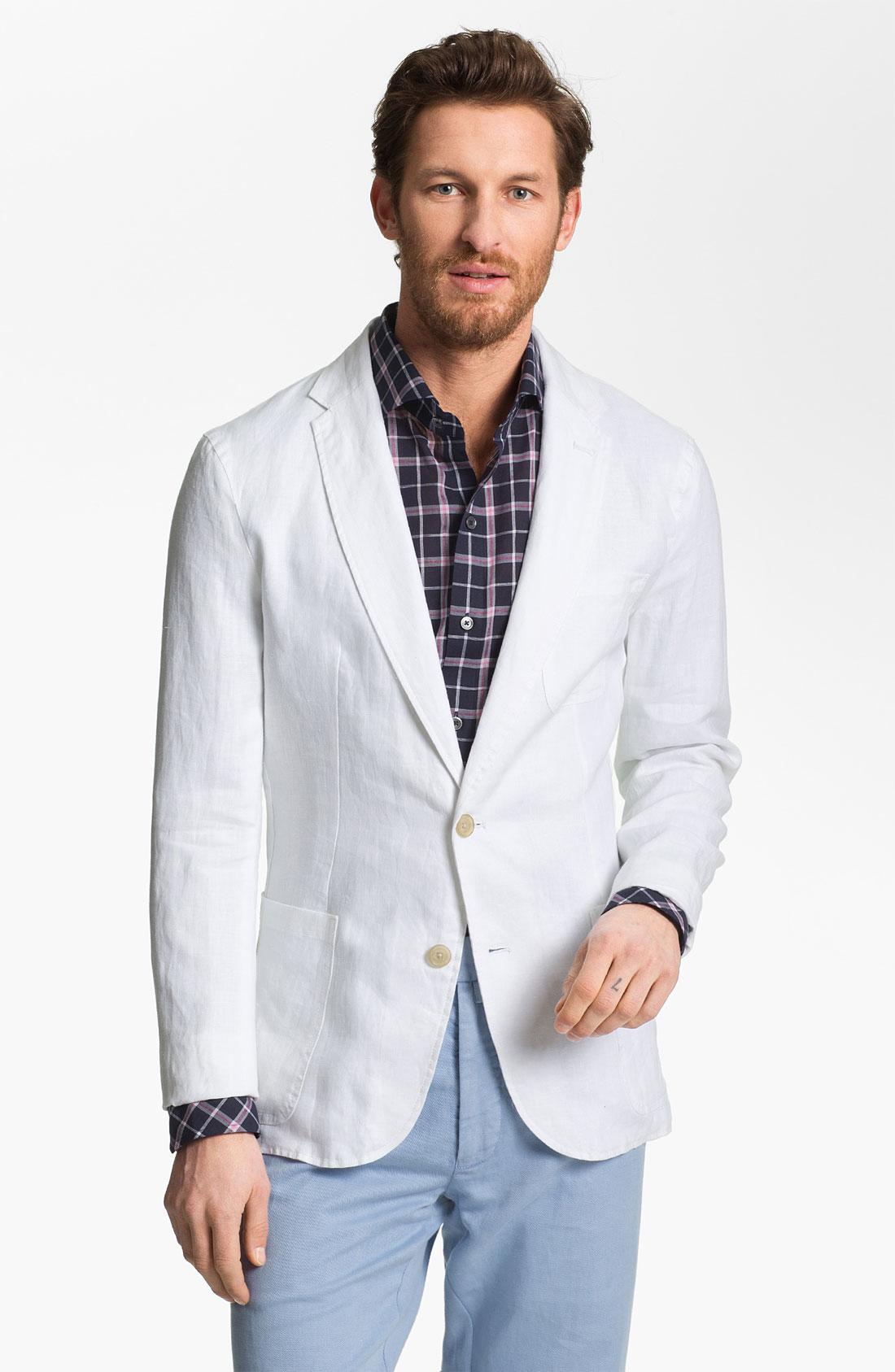 Michael kors Linen Blazer in White for Men | Lyst