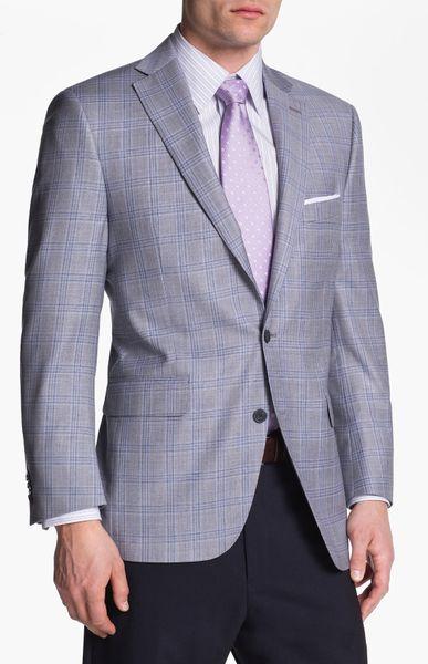 Peter Millar Plaid Sportcoat In Gray For Men Grey Blue