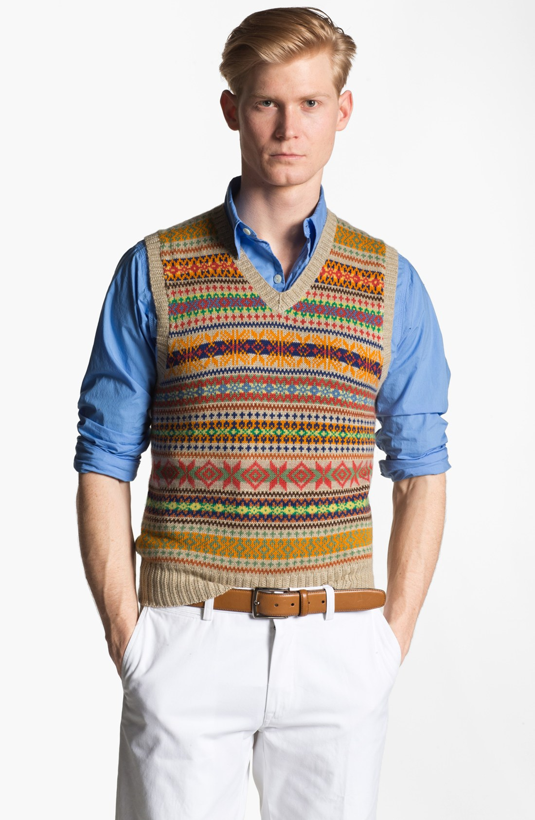 Polo ralph lauren Fair Isle Sweater Vest for Men | Lyst