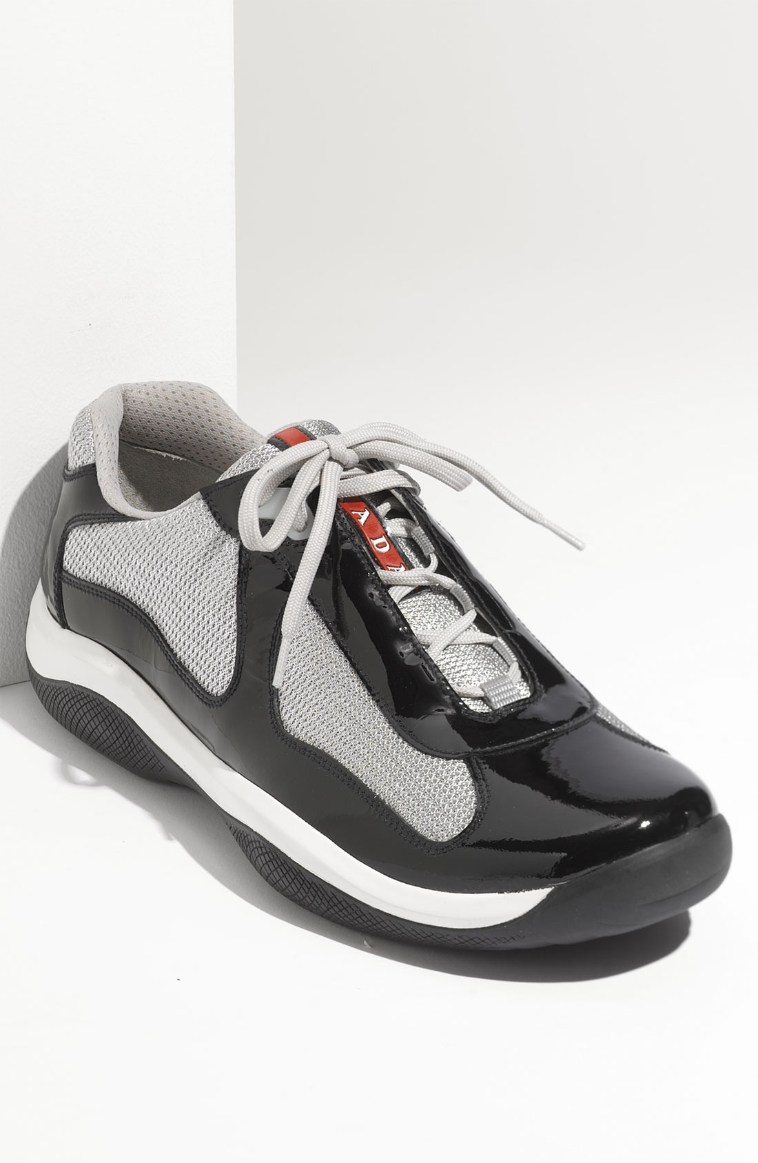 Prada Mens Black Patent Leather Shoes