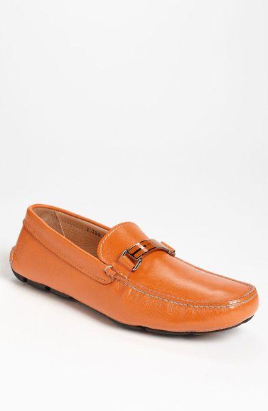 Prada Driving Shoe in Orange for Men