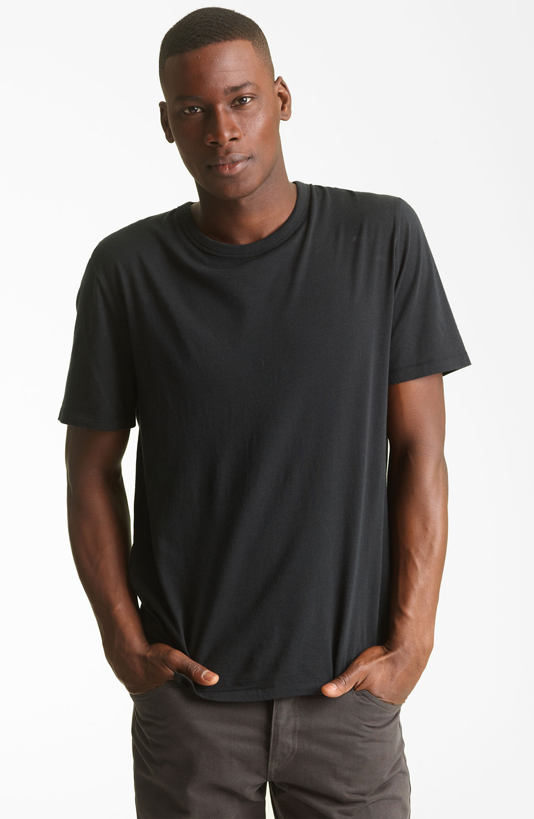 Lyst t by alexander wang 39 classic 39 t shirt in black for men for Alexander wang t shirts