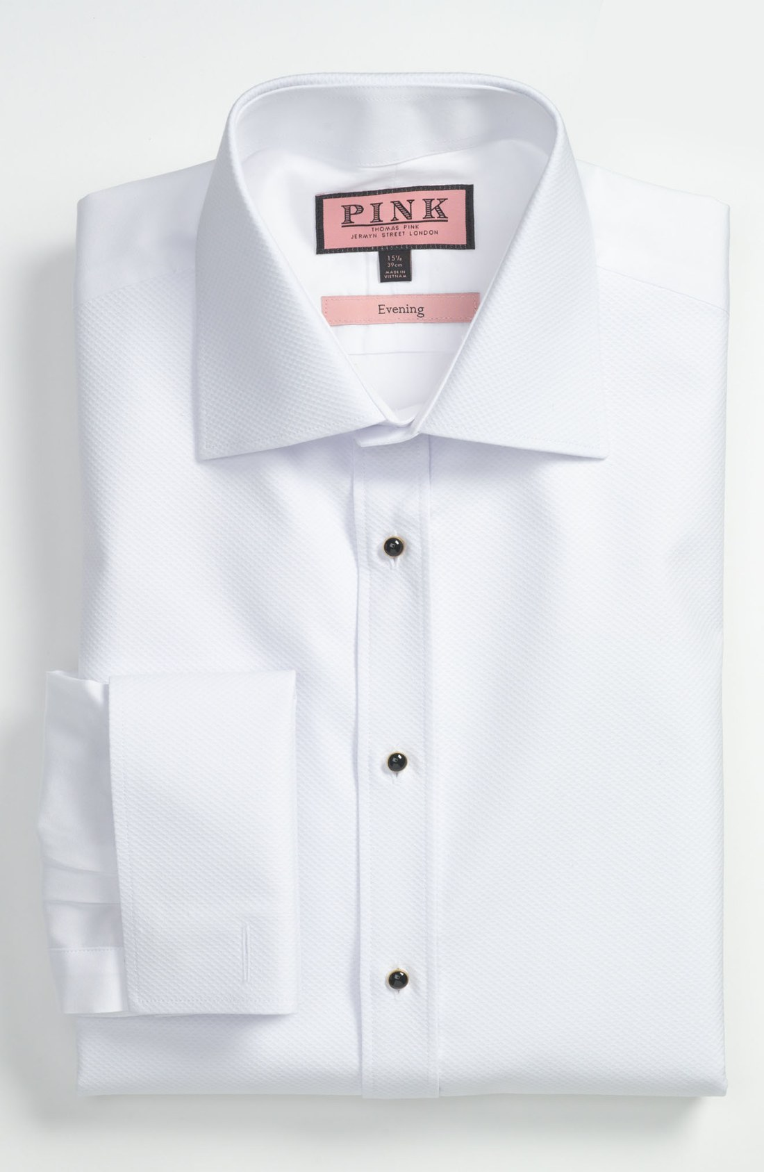 Thomas Pink Slim Fit Tuxedo Shirt In White For Men Lyst