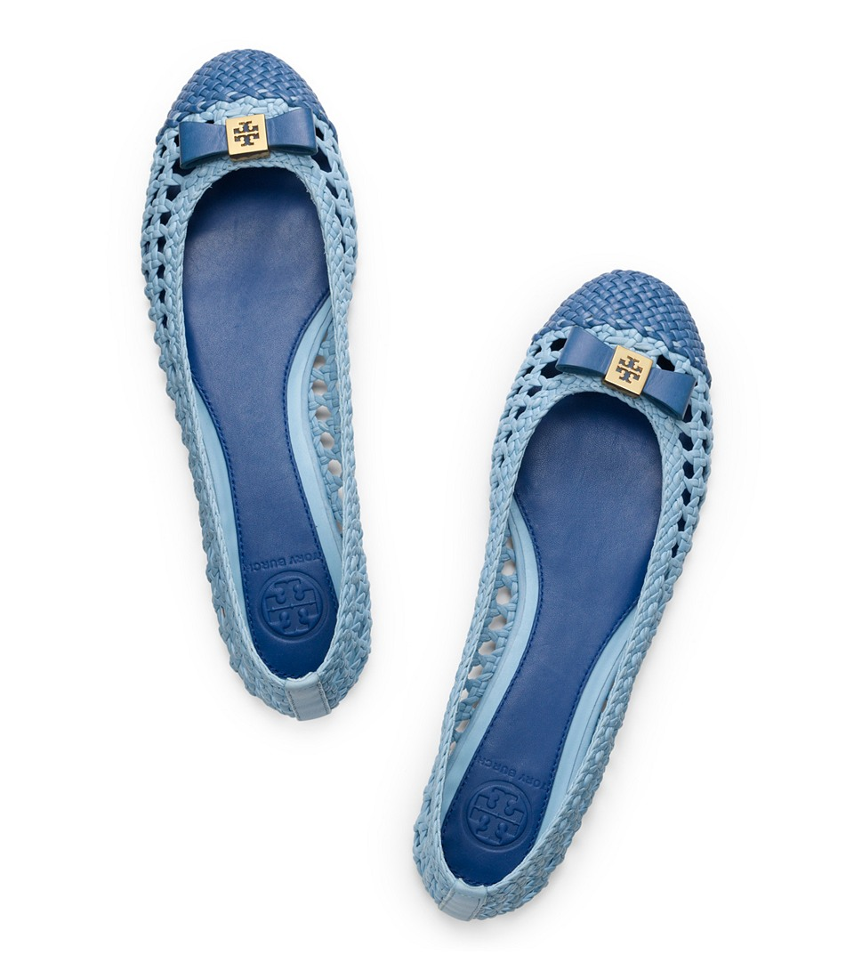 c02901944083 ... leather ballet flats nude ebc07 d74cf  order lyst tory burch carlyle  flat in blue 10070 eb84c