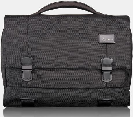 Tumi Ttech By Networklaptop Flap Briefcase in Black for Men