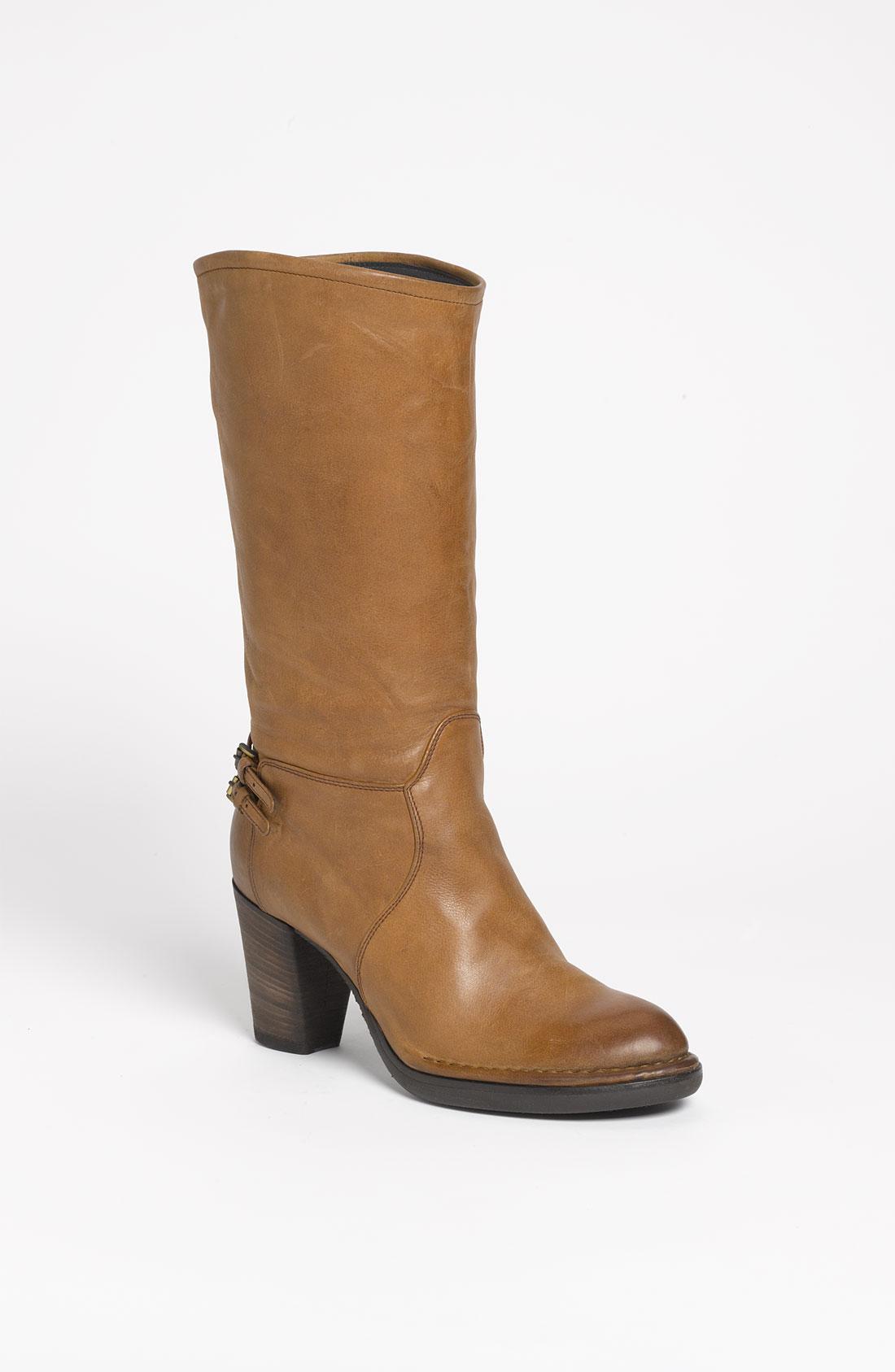 alberto fermani mid heel boot nordstrom exclusive in brown