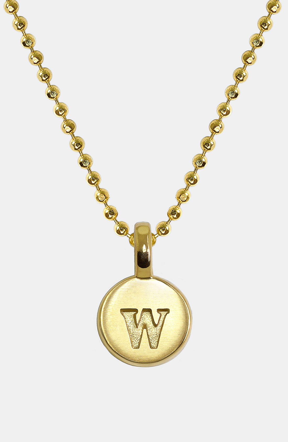 alex woo mini initial 14k gold pendant necklace in gold
