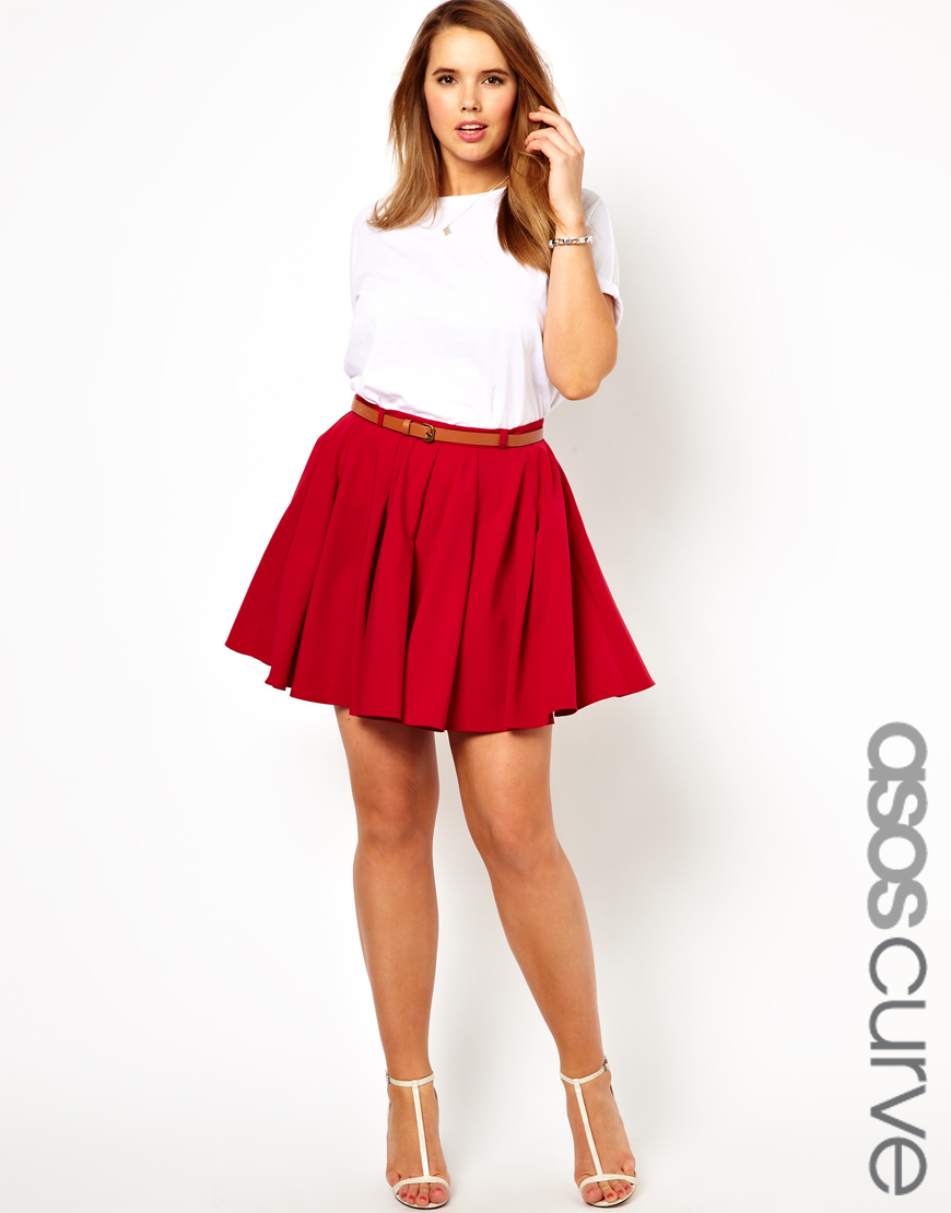 Red Skater Skirts - Dress Ala